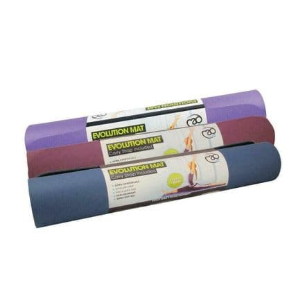 Fitness Mad Evolution Yoga Mat 4mm With Carry Strap Gym Pilates